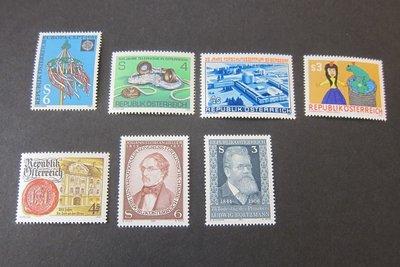 【雲品】奧地利Austria 1981 Sc 1178-84 sets(7) MNH 庫號#76769