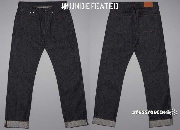 【超搶手】全新正品 現貨 主打商品 Undefeated Indigo denim Jeans 丹寧牛仔褲 赤耳布邊