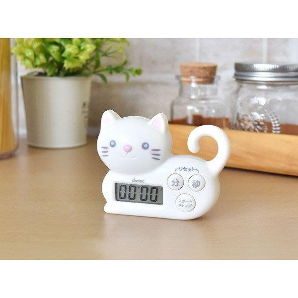 日本進口~可愛貓咪 2WAY 橡皮筋掛勾 / 計時器(現貨1)