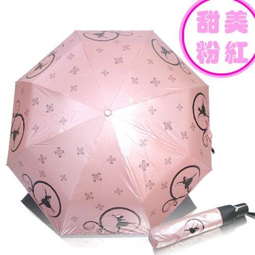 舞動人生三折自動開收傘~粉紅、紫色、黃綠色、深藍4色可選抗UV