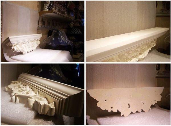 巴洛克PU系列浮雕壁檯 * CD架多功能家具*鏡框檯子等多功能 白色底漆 @$1900 玫瑰花
