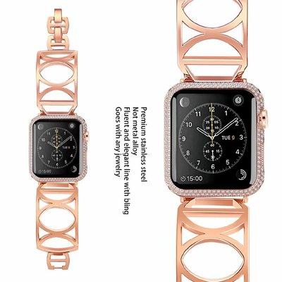 iwatch5手表表帶鋼帶時尚