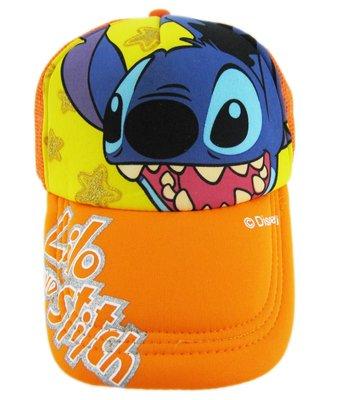 【卡漫迷】 Stitch 青少年 帽子 橘色 ㊣版 成人 星際寶貝 史迪奇 遮陽帽 棒球帽 網球帽 網帽 鴨舌帽 透氣