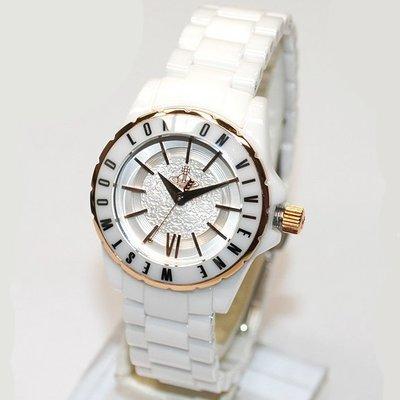 Vivienne Westwood 手錶 英國 Ceramic 29mm 白色 陶瓷 陶瓷錶 土星 星球 女錶 VV088RSWH