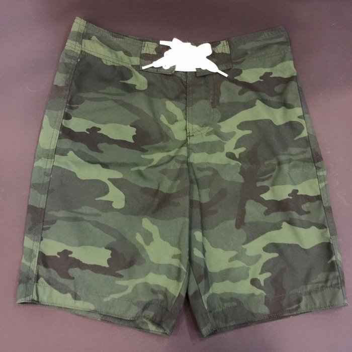A&F AF 男生 Douglas Mountain Swim Shorts 迷彩海灘褲 S 現貨