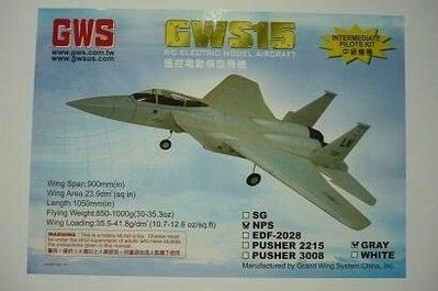 GWS F15 發泡膠飛機(淨機)