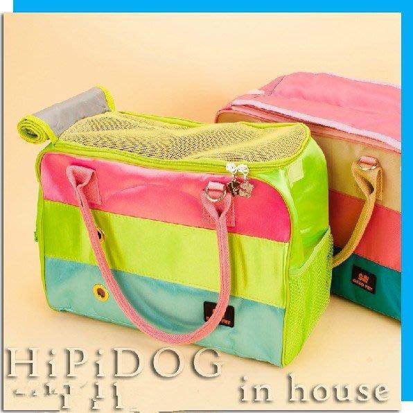 新款拼色寵物包寵物外出包便攜包狗包貓包狗狗背包泰迪狗袋用品