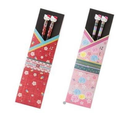 《東京家族》Kitty 紅/粉 和服造型 和風木筷