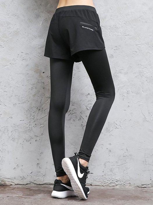 女 假兩件長褲 運動長褲 吸濕排汗 塑身 顯瘦 C37-CK829