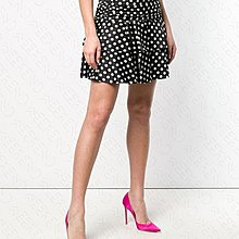 【WEEKEND】 MOSCHINO Polka Dot 波卡圓點 高腰 裙子 短裙 黑+白色 19春夏