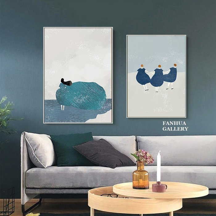 C - R - A - Z - Y - T - O - W - N 文創藝術小清新女人抽象沙發背景掛畫臥室書房床頭掛畫