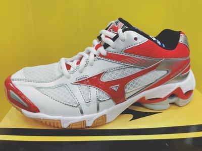 MIZUNO 女 排球鞋 羽球鞋 手球鞋  WAVE BOLT 6 V1GC176062 白紅 現貨