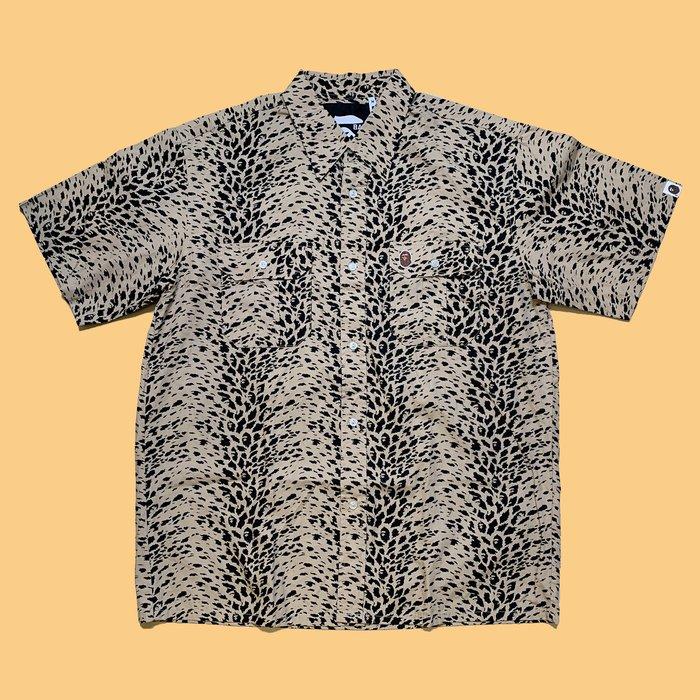 JCI:A BATHING APE 早期商品 豹紋迷彩夏威夷衫 花襯衫 / BAPE / TRAVIS / A$AP