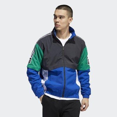 Adidas SB 外套 三葉草 愛迪達 拼接 藍綠 三線 黑綠 風衣 黑 EC7329 男女同款