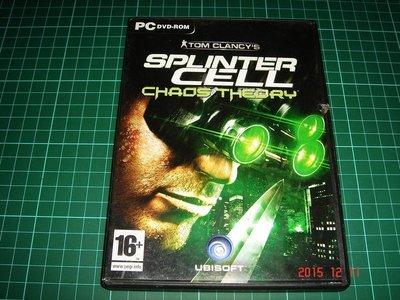 PC DVD-ROM《SPLINTER CELL 縱橫諜海 》說明書及光碟1片【CS超聖文化讚】