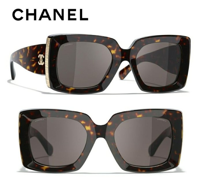 CHANEL香奈兒► (琥珀玳瑁色框×深棕灰色鏡片)太陽眼鏡 墨鏡 |100%全新正品|代購