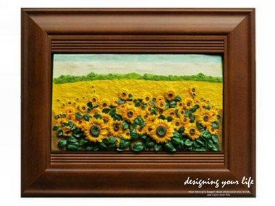 【設計私生活】立體橫式壁掛式鑰匙盒-向日葵(全館一律免運費)C系列160