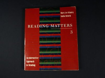 【考試院二手書】《Reading Matters 3: An Interactive Approach to Reading》│書林│八成新(22Z45)