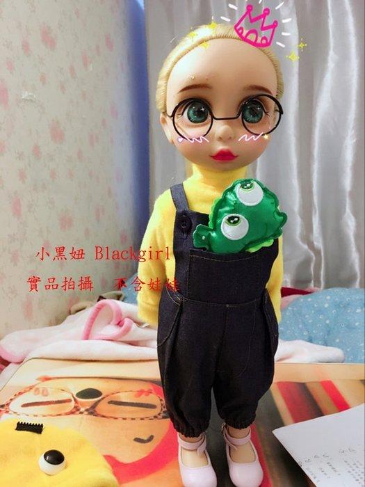 【小黑妞】迪士尼公主沙龍娃娃40公分以下可穿-可愛口袋牛仔背帶褲到袋褲(不含上衣)【現貨】