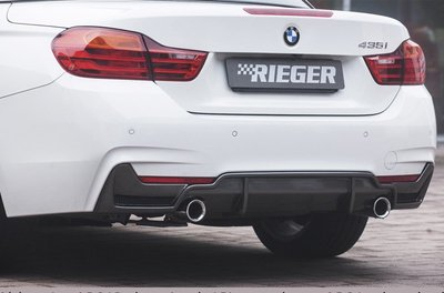 【樂駒】RIEGER BMW F32 F33 F36 M REAR SKIRT INSERT 後下擾流 後下巴 雙邊單出