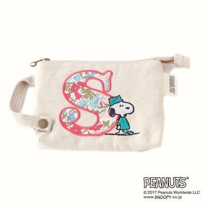 全新日本正品 LIBERTY ×ピーナッツ(PEANUT) ティッシュポーチ 私密包 紙巾包 零錢包【款式:S】