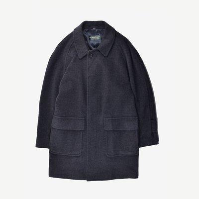 THE PERLSTEIN Long Trench Coat 日本製 M 碳灰  深灰 長版 大衣 口袋 冬季 輕