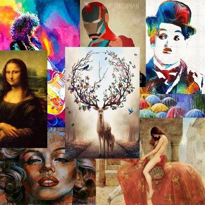 C - R - A - Z - Y - T - O - W - N 來圖訂製客製化油畫布畫芯訂做裝飾掛畫無框畫有框畫簡約客製化服務賣場款式掛畫尺寸均可訂製裝飾畫