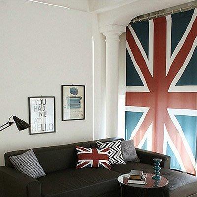 尼克卡樂斯~英國國旗布藝門簾 布簾 窗簾 半廉 衛浴隔間廉 隔廉風水廉 裝潢設計掛簾