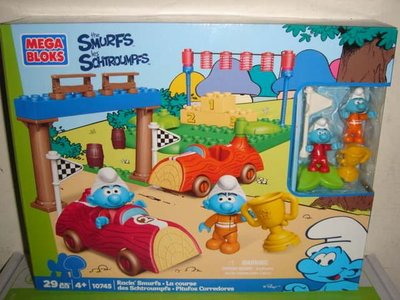 1戰隊Playmobil摩比人LEGO樂高10702美高MEGA BLOKS藍色小精靈小幫手賽車場積木公仔四佰二一元起標
