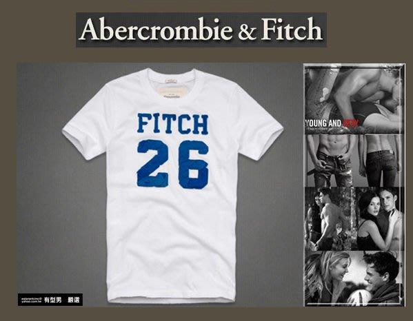 有型男~ A&F Abercrombie&Fitch 2013 春夏 旗艦店微破壞重磅 Slante Rock白 S L