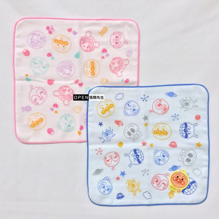 【張開先生】日本帶回 ANPANMAN 麵包超人 日本製 紗布巾 兒童手帕