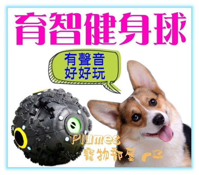 【Plumes寵物部屋】寵愛物語《育智健身球3吋》發聲漏食球/怪叫球/貪食球/內可放零食飼料/狗狗益智玩具【可超取】