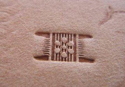 老約翰  JL- X501-3 大 梅花編織紋 打印 鋼製  鋼製 精密手工鑄造 落印鮮明 清晰 皮雕工具 皮雕材料