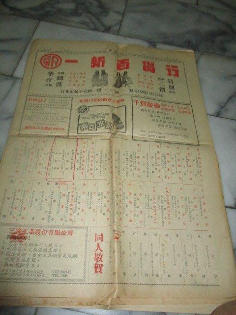 60年..工商徵信.鄧麗君..萬年大樓....菊水汽水...少見