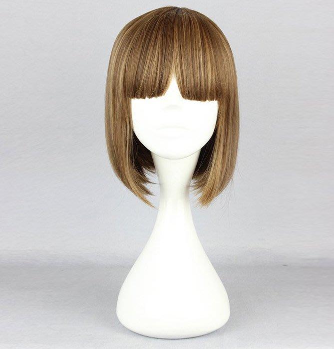 高雄艾蜜莉戲劇服裝表演服*cospaly假髮*淺咖啡色BOBO短假髮-475A購買價$400元