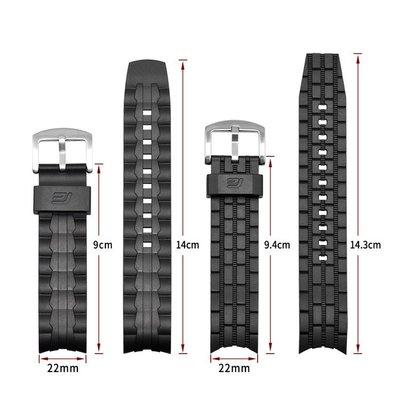 卡西歐 Edifice 系列錶帶 EF-550 EF-523 橡膠樹脂錶帶 EF550 EF523 錶帶腕帶手鍊-xxpp726 台北市