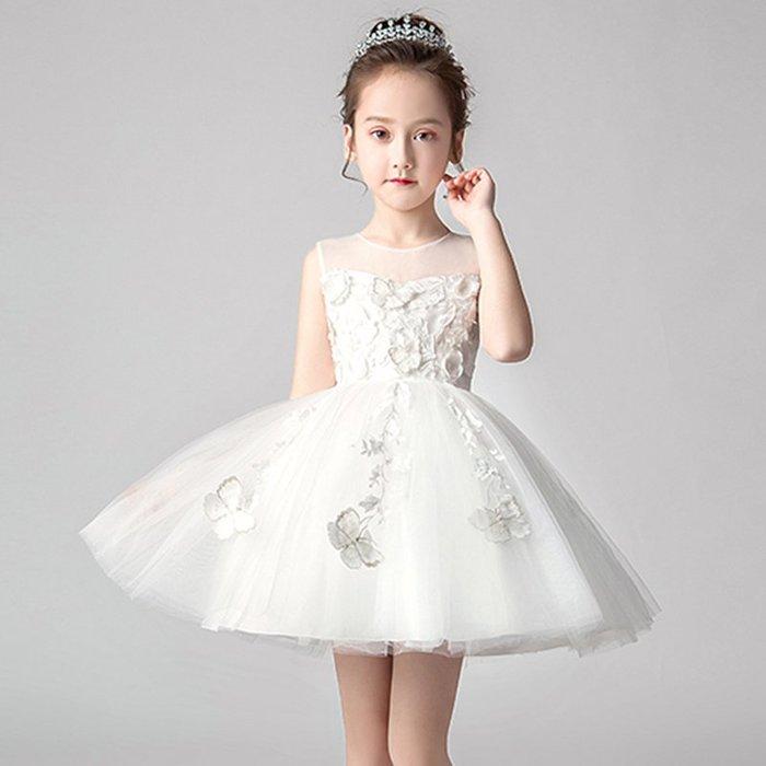 •*~ 辣媽咪衣飾小舖 ~*•❤童裝系列❤K980462韓版大童夏款甜美清新時尚蓬蓬蕾絲亮片可愛公主禮服公主洋裝