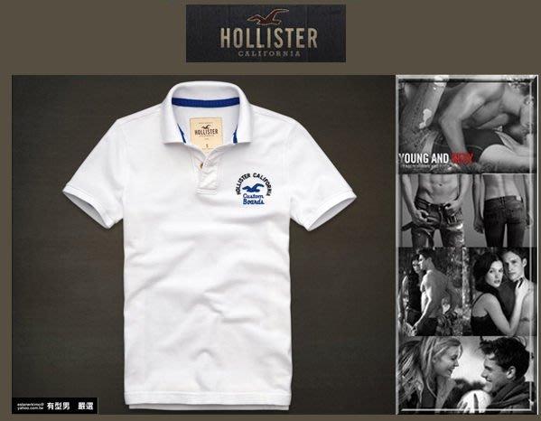 有型男~ A&F 副牌 Hollister 2013 春夏精典海鷗logo Embarcadero Polo white 純白 真品 現貨  L XL