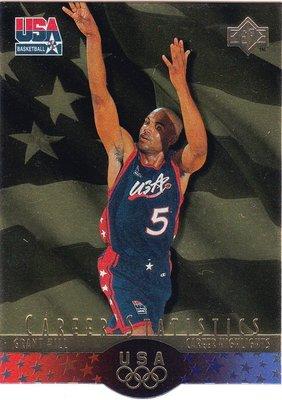 Grant Hill 1996 UD USA SP Career Statistics Gold 金版特卡
