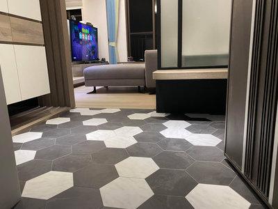 RADY品牌~超耐磨小六角導角塑膠地板每坪3200元起**時尚塑膠地板賴桑**