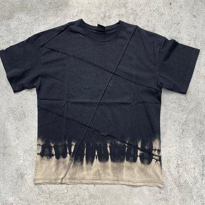 【inSAne】訂製款 / 反車線 / 漸層 / 短袖 / 黑色 / M & L