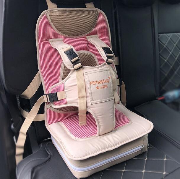 汽車兒童座椅 車載嬰兒童汽車安全座椅墊坐墊小孩便攜式寶寶帶固定器簡易0-5歲半—莎芭