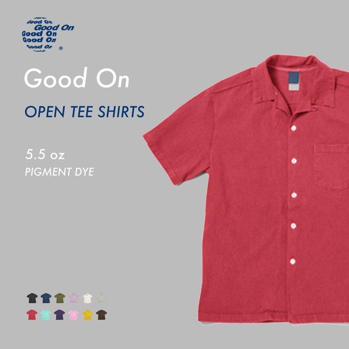 WaShiDa【gost1605p】Good On 日本品牌 OPEN TEE SHIRTS 開領 短袖 素面 染 襯衫