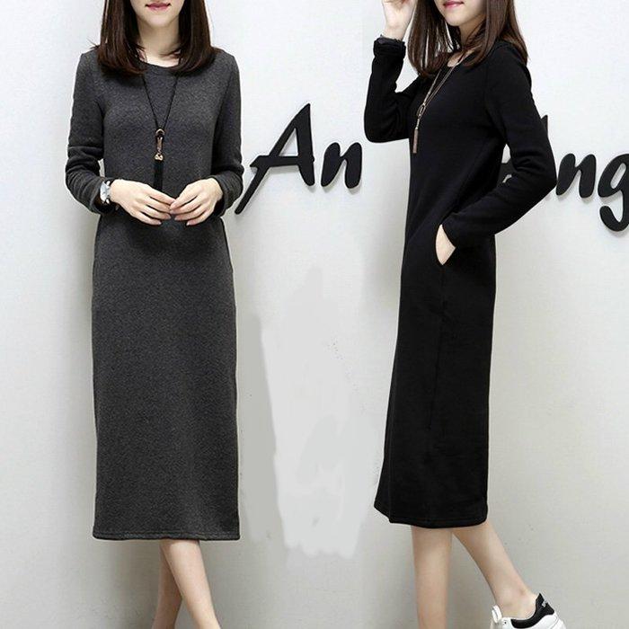 ✿ 吉米花 ✿ B-097810 時尚長款連衣裙 ( 黑 ) 中碼 現貨