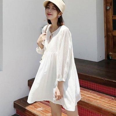 i-Mini 韓國時尚˙柔美透膚網格洋裝式連身衣~正韓連線˙空運【B06260224md】