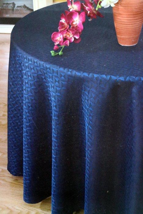 居家家飾設計  桌巾/圓檯布380cm圓 輻射格/菱格紋/方格紋/LV花紋格 寬幅高密度緹花