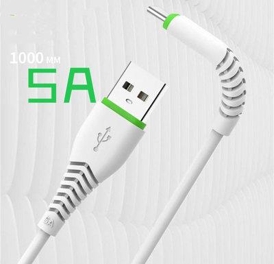5A極充線 支援QC3.3 快充線 安卓 蘋果 X29 充電線 長度1公尺