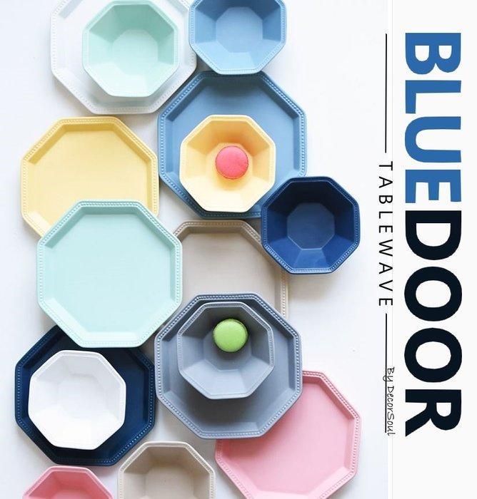 BlueD_ 八角型 8吋盤 沙拉盤 西餐盤 馬卡龍配色 深盤 沙拉碗 義大利麵 小碗 不規則造型 創意設計裝潢 工業風
