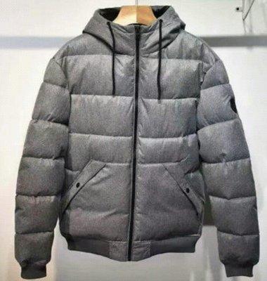 西班牙 Springfield 男 特厚 鋪棉 防潑水 保暖 連帽 外套 表布磨毛 灰色 尺寸XL