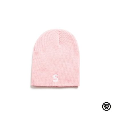 SQUAD 2016 A/W SQUAD S電繡毛帽 SQUAD S Embroidery Knit Beanie 粉色
